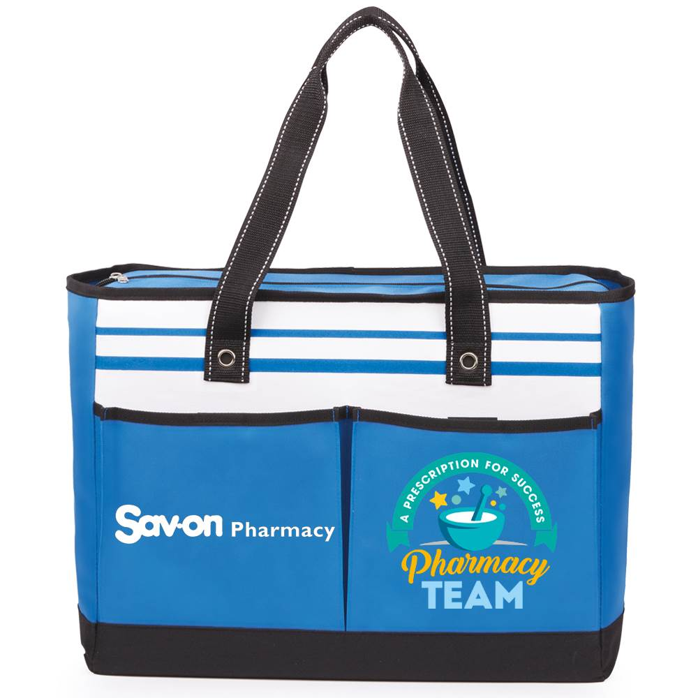 Pharmacy Team: A Prescription For Success Traveler Two-Pocket Tote Bag Plus Personalization
