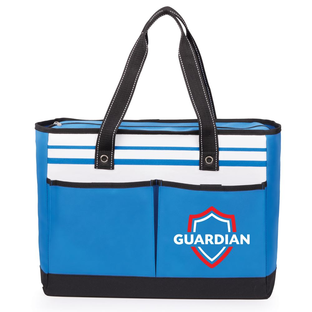 Blue Traveler Two-Pocket Tote Bag - Full Color Personalization Available