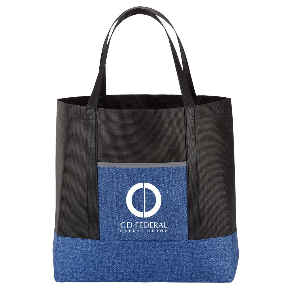 Blue Denim Non-Woven Tote Bag - Personalization Available
