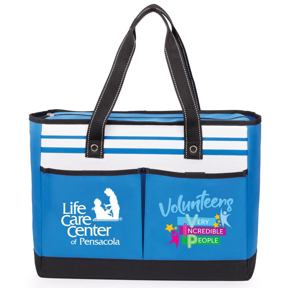Volunteers: Very Incredible People Traveler Two-Pocket Tote Bag with Personalization