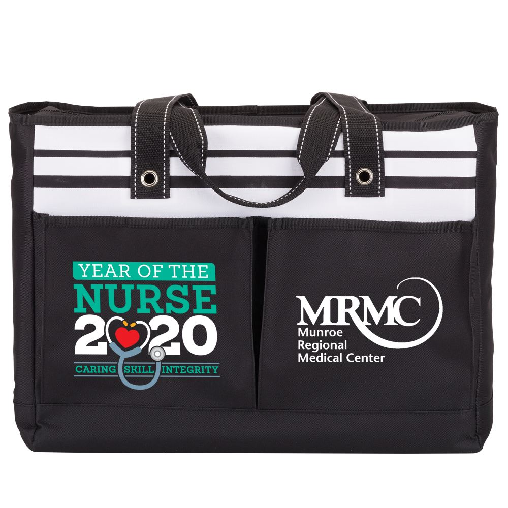 Year Of The Nurse 2020 Traveler Two Pocket Tote Bag - Personalization Available