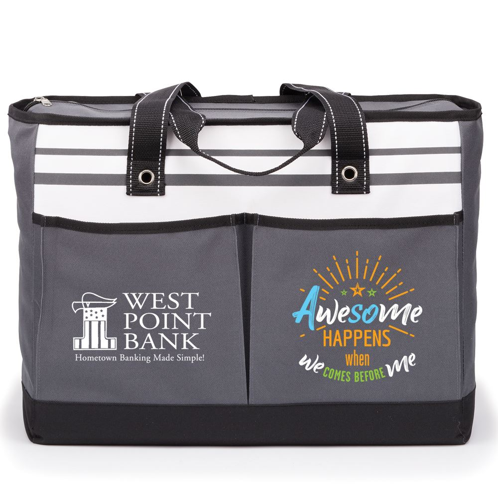 Awesome Happens When We Comes Before Me Traveler Two-Pocket Tote Bag - Personalization Available