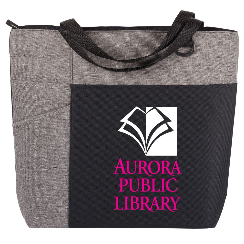 Gray/Gray Ashland Tote Bag - Full Color Personalization Available