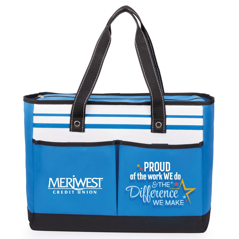 Proud Of The Work We Do And The Difference We Make Traveler Two-Pocket Tote Bag - Personalization Available