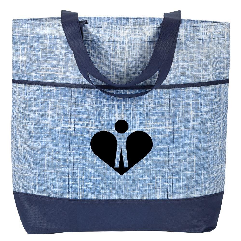 Malibu Non-Woven Blue Tote Bag - Personalization Available