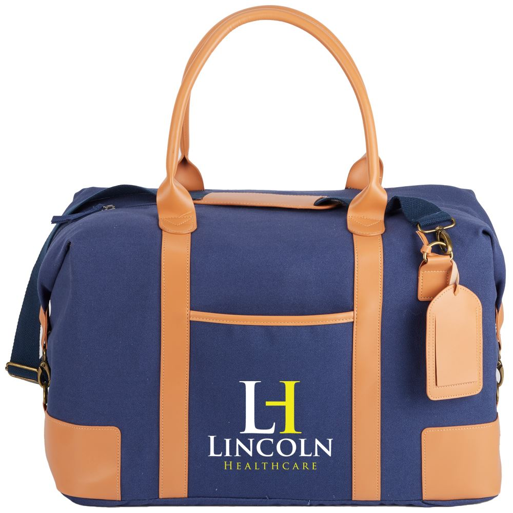 Blue Milan Weekender Bag - Embroidered Personalization Available