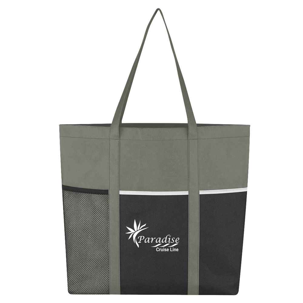 Gray Non-Woven Boat Tote Bag - Personalization Available