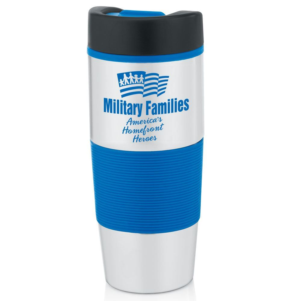 Military Families Stainless Steel Color Grip Travel Tumbler 14-oz.
