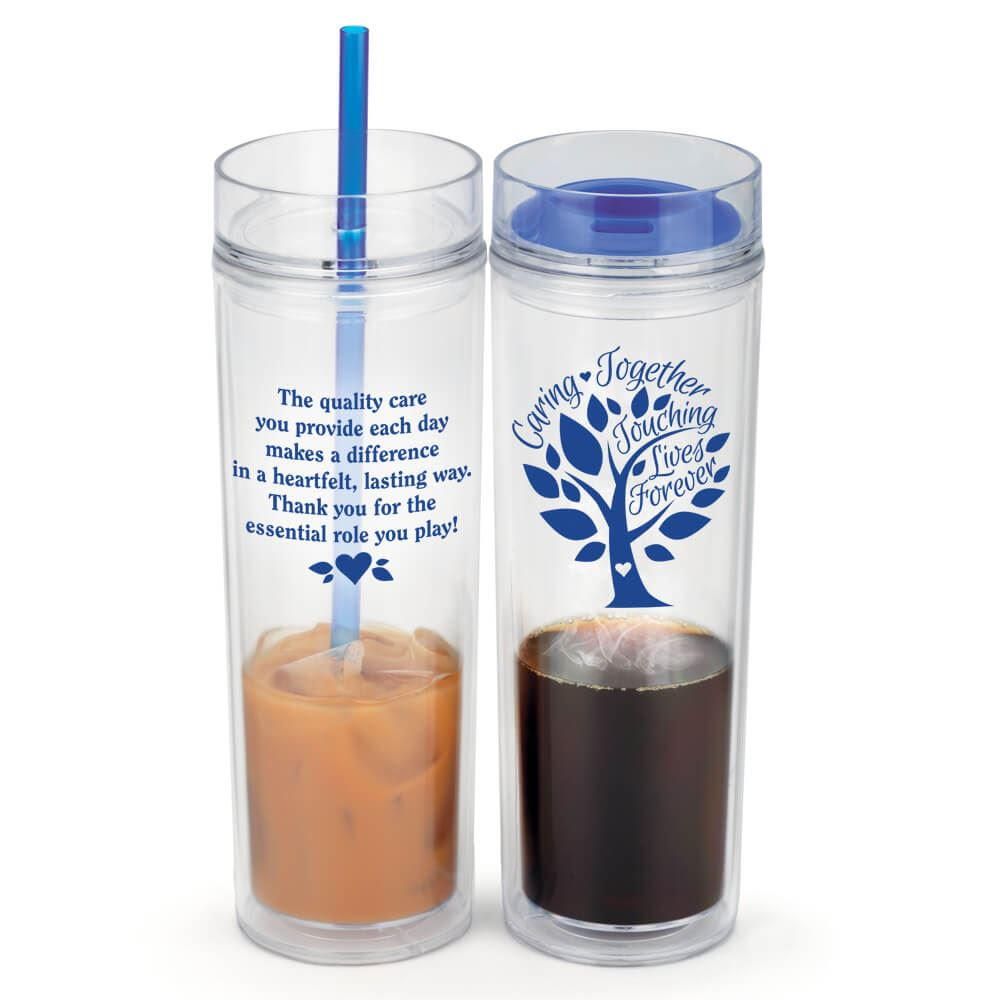 Caring Together, Touching Lives Forever Fire & Ice Hot/Cold 2-In-1 Tumbler Gift Set