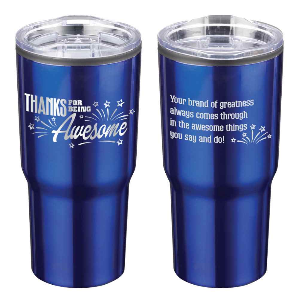 Thanks For Being Awesome Timber Insulated Stainless Steel Travel Tumbler 20-Oz.