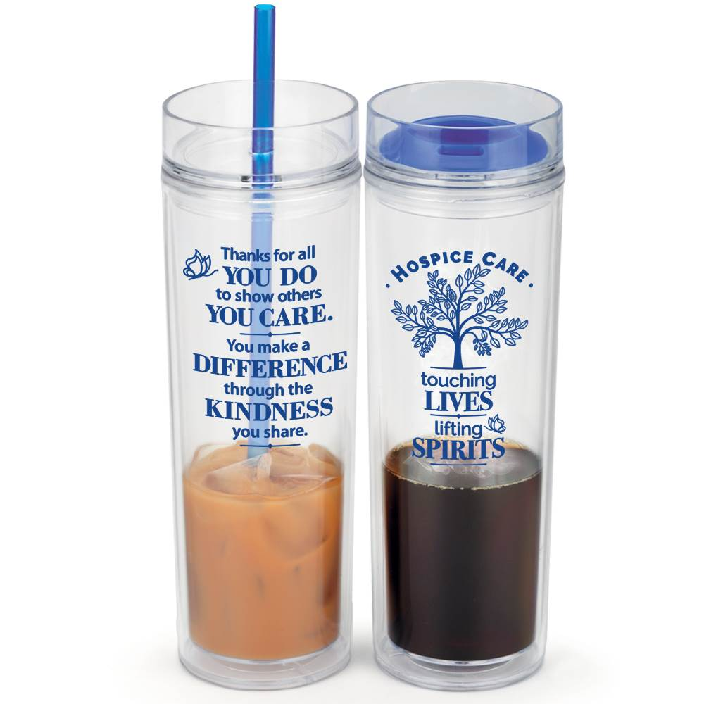 Hospice Care: Touching Lives, Lifting Spirits Fire & Ice Hot/Cold 2-In-1 Tumbler Gift Set