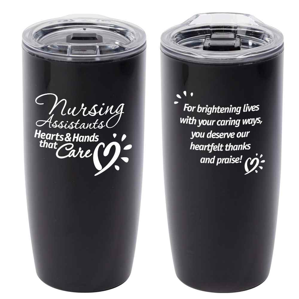 Nursing Assistants: Hearts & Hands That Care Sierra Insulated Acrylic Tumbler 19-Oz.