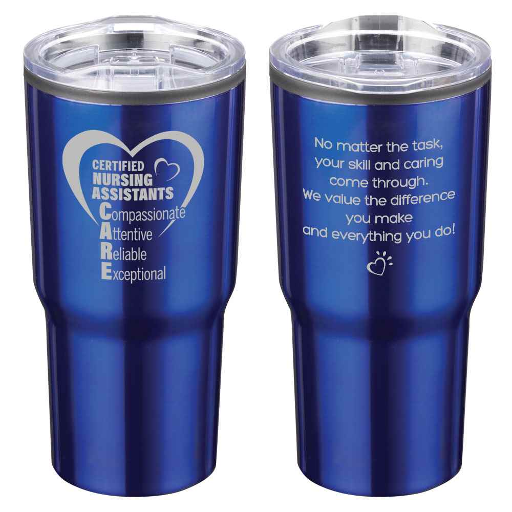 Certified Nursing Assistants CARE Timber Insulated Stainless Steel Travel Tumbler 20-Oz.