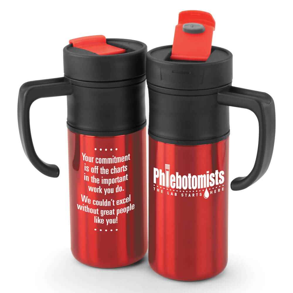 Phlebotomists: The Lab Starts Here Montauk Insulated Travel Mug 15-Oz.