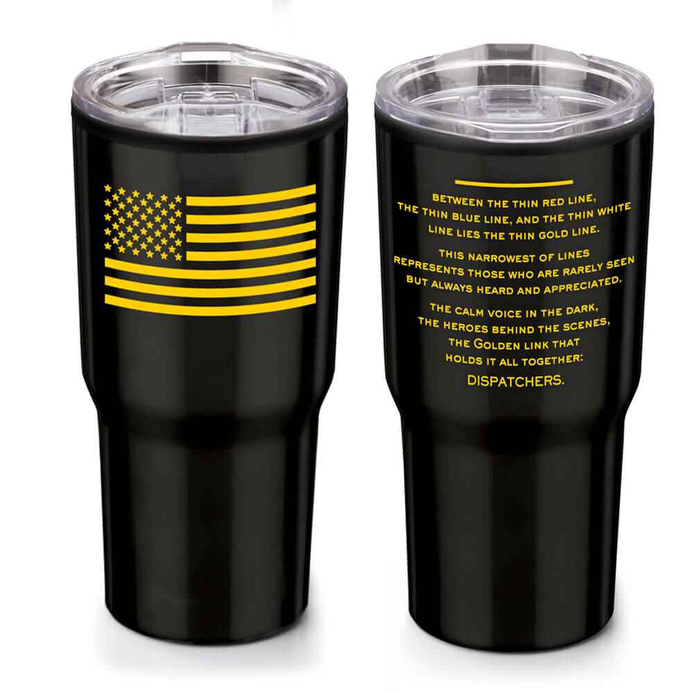 The Thin Gold Line Timber Insulated Stainless Steel Travel Tumbler 20-Oz.