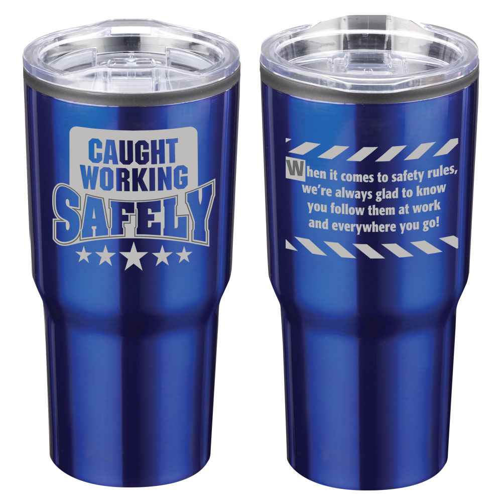 Caught Working Safely Timber Insulated Stainless Steel Travel Tumbler 20-Oz.