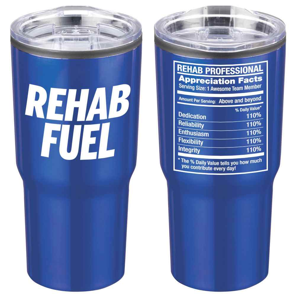 Rehab Fuel Timber Insulated Stainless Steel Travel Tumbler 20-Oz.