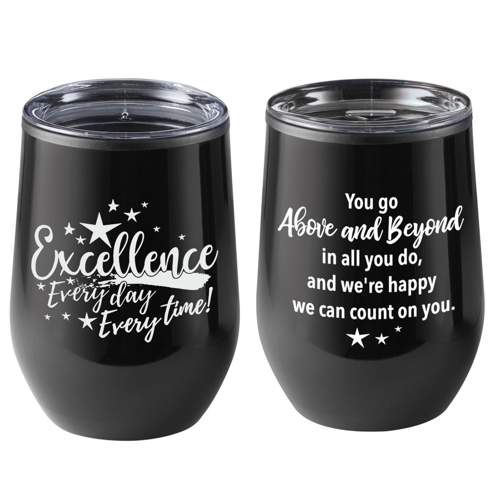 Excellence: Every Day, Every Time! Riviera Stainless Steel Tumbler 12-Oz.