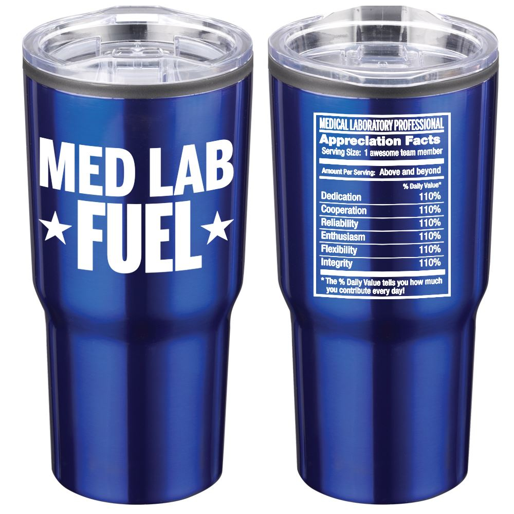 Med Lab Fuel Timber Insulated Stainless Steel Travel Tumbler 20-Oz.