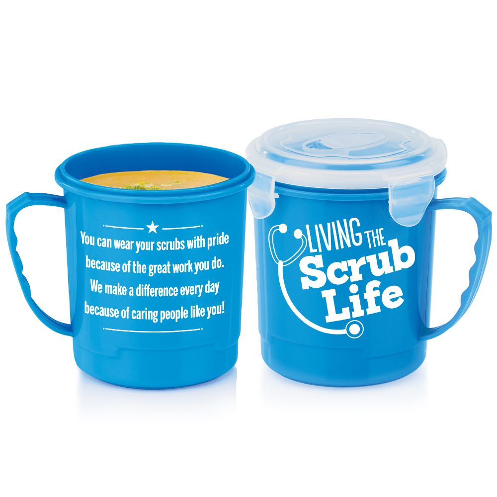 Living The Scrub Life Soup Mug With Locking Lid