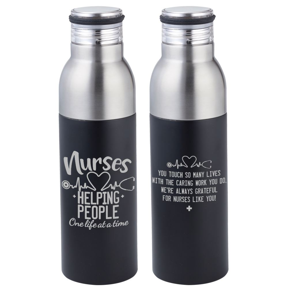 Nurses: Helping People One Life At A Time Double Take Bottle-To-Tumbler