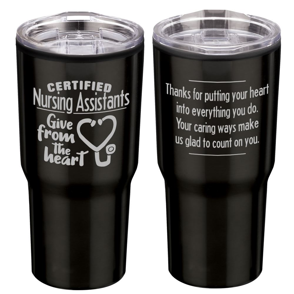 Certified Nursing Assistants Give From The Heart Timber Insulated Steel Tumbler 20-Oz.