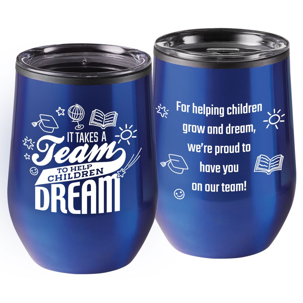 It Takes A Team To Help Children Dream Rivera Stainless Steel Tumbler 12-Oz.