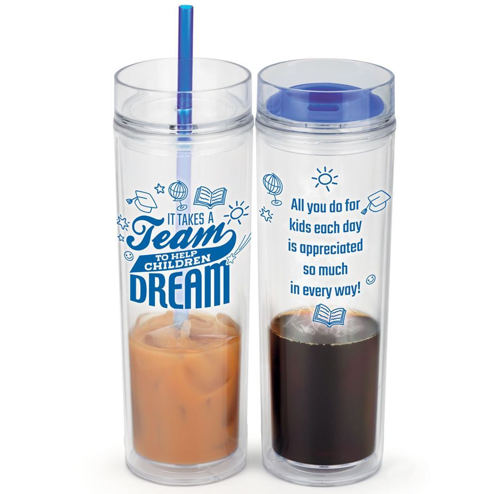 It Takes A Team To Help Children Dream Fire & Ice Hot/Cold 2-In-1 Tumbler Gift Set