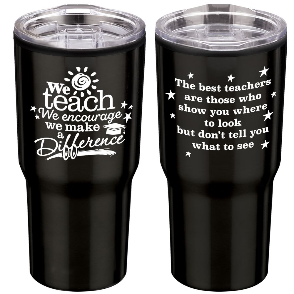 We Teach We Encourage We Make A Difference Insulated Stainless Steel Travel Tumbler 20-Oz.