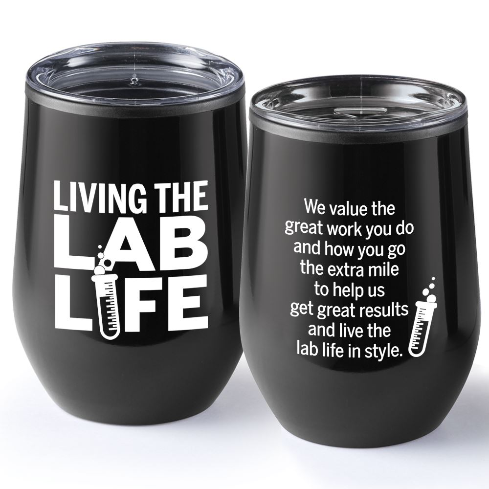 Living The Lab Life Riviera Stainless Steel Tumbler 12-Oz.
