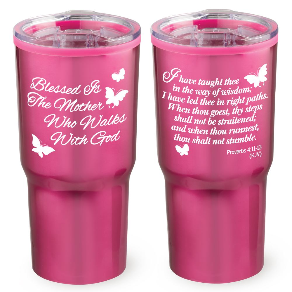 Blessed Is The Mother Who Walks With God Timber Insulated Stainless Steel Travel Tumbler 20-Oz.