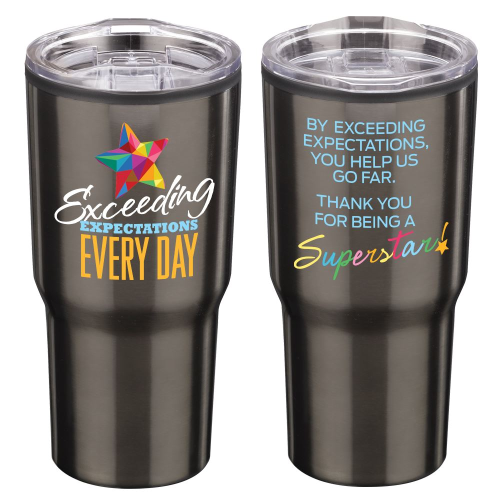 Exceeding Expectations Every Day Timber Insulated Stainless Steel Travel Tumbler 20-Oz.