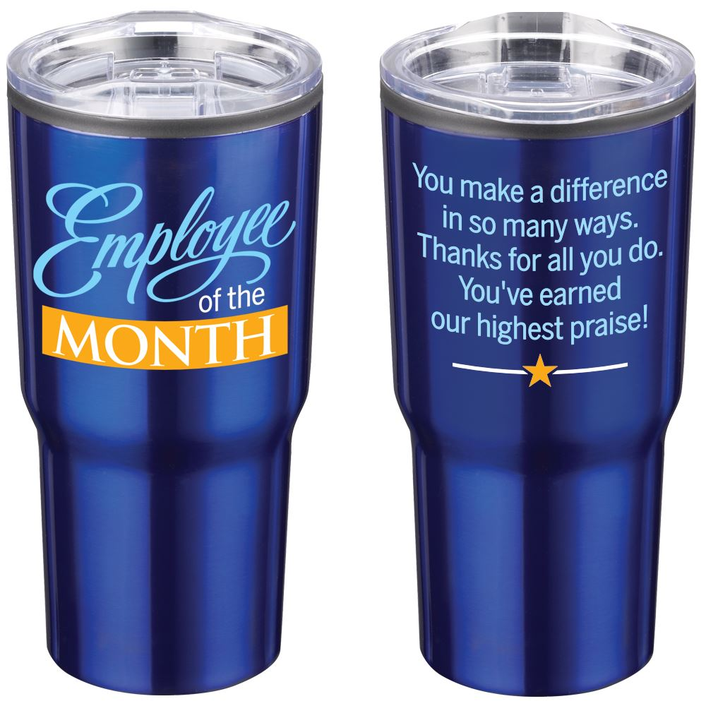 Employee Of The Month Timber Insulated Stainless Steel Travel Tumbler 20 Oz.