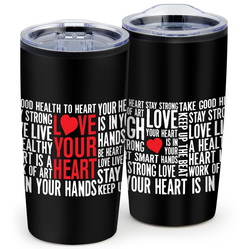 Love Your Heart Teton Stainless Steel Tumbler 20-Oz.