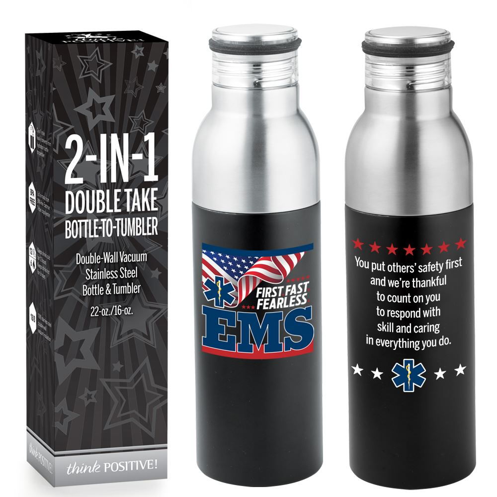 EMS: First.Fast.Fearless. Double Take Bottle-To-Tumbler