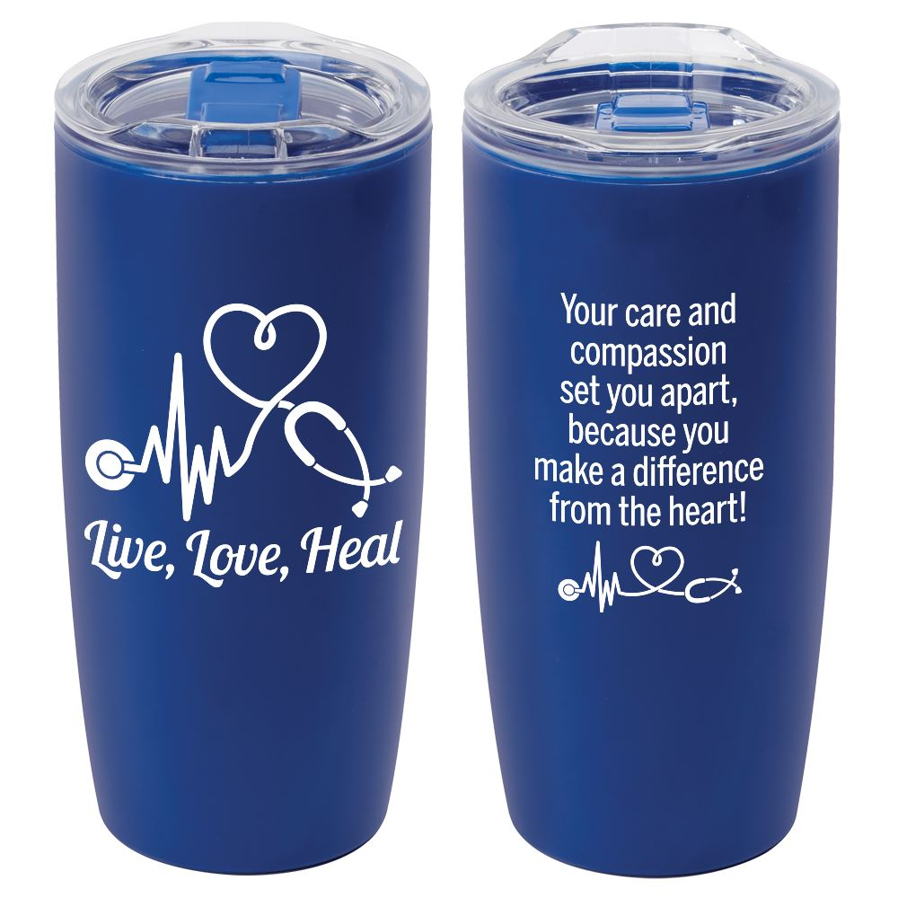 Live, Love, Heal Sierra Insulated Acrylic Tumbler 19-Oz.