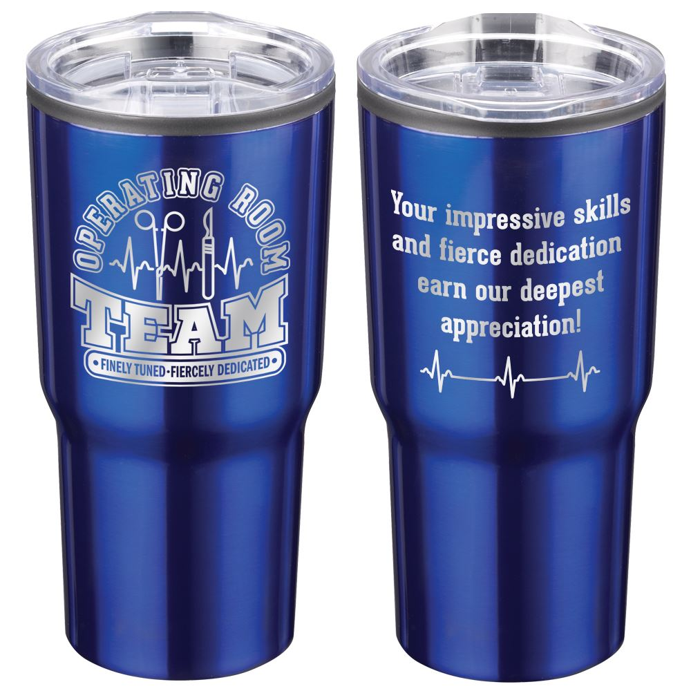 Operating Room Team: Finely Tuned, Fiercely Dedicated Timber Insulated Stainless Steel Travel Tumbler 20-Oz.