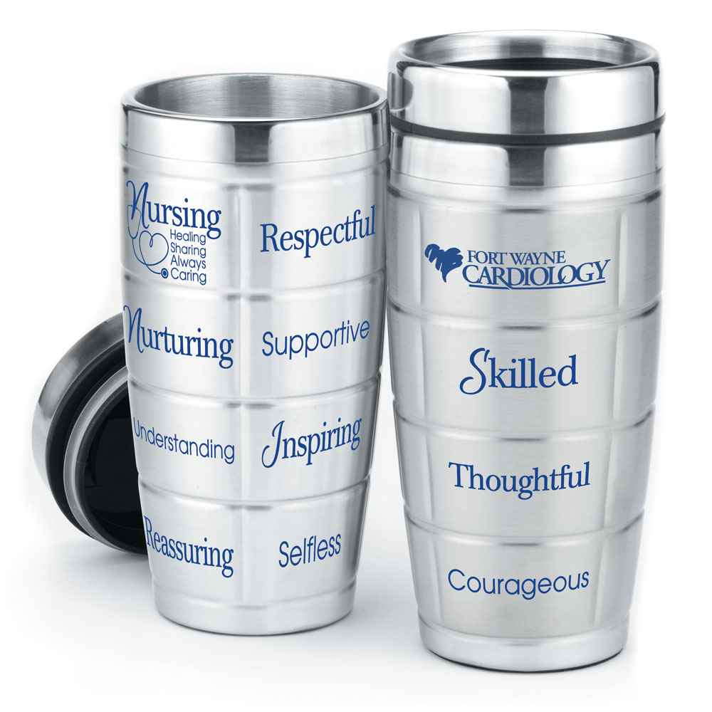 Nursing Team Stainless Steel Message Tumbler 16-Oz. - Personalization Available