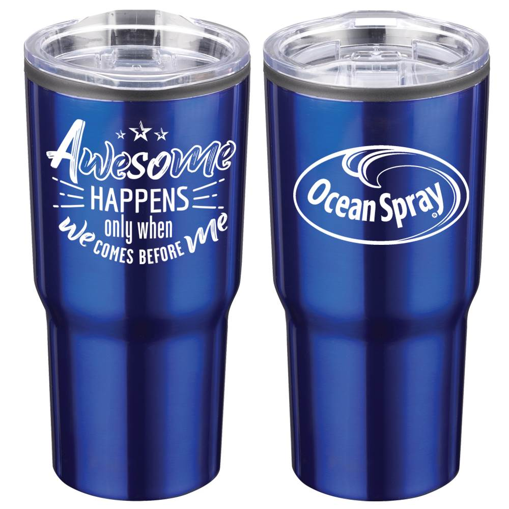Awesome Happens Only When We Comes Before Me Positivity Timber Insulated Stainless Steel Travel Tumbler 20-Oz. with Personalization