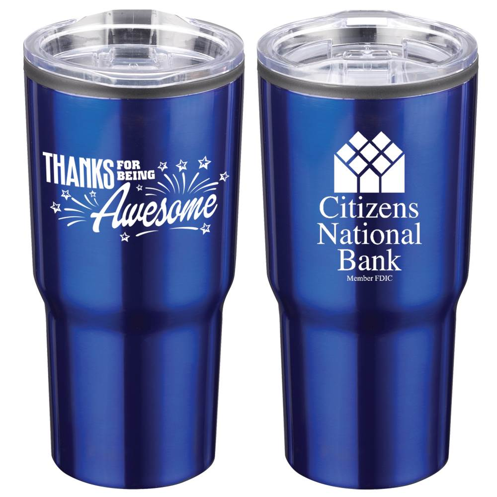 Thanks For Being Awesome Positivity Timber Insulated Stainless Steel Tumbler 20-Oz. with Personalization