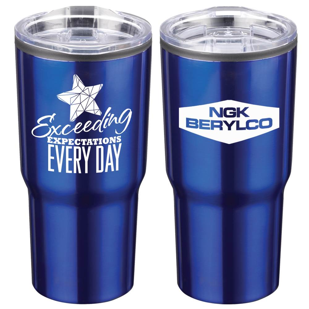 Exceeding Expectations Every Day Positivity Timber Insulated Stainless Steel Tumbler 20-Oz. with Personalization