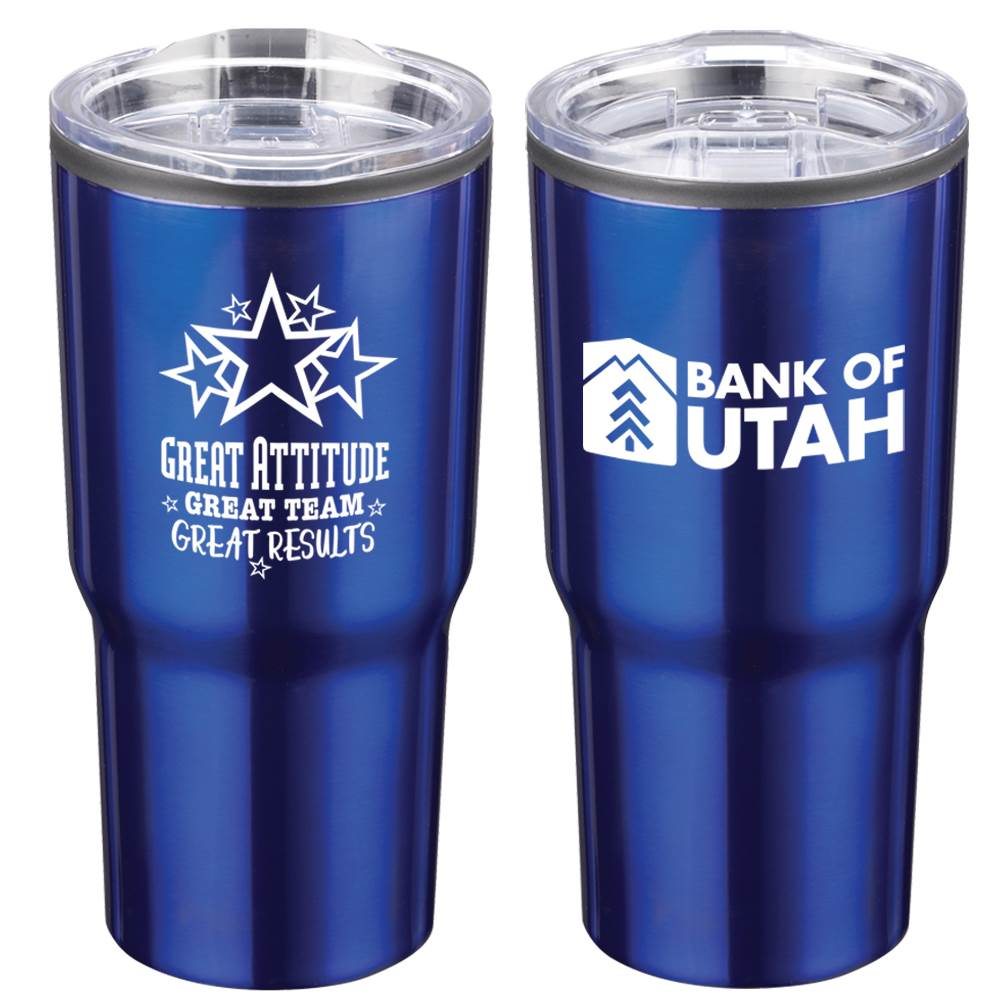 Positivity Blue Timber Insulated Stainless Steel Travel Tumbler 20-Oz. With Personalization
