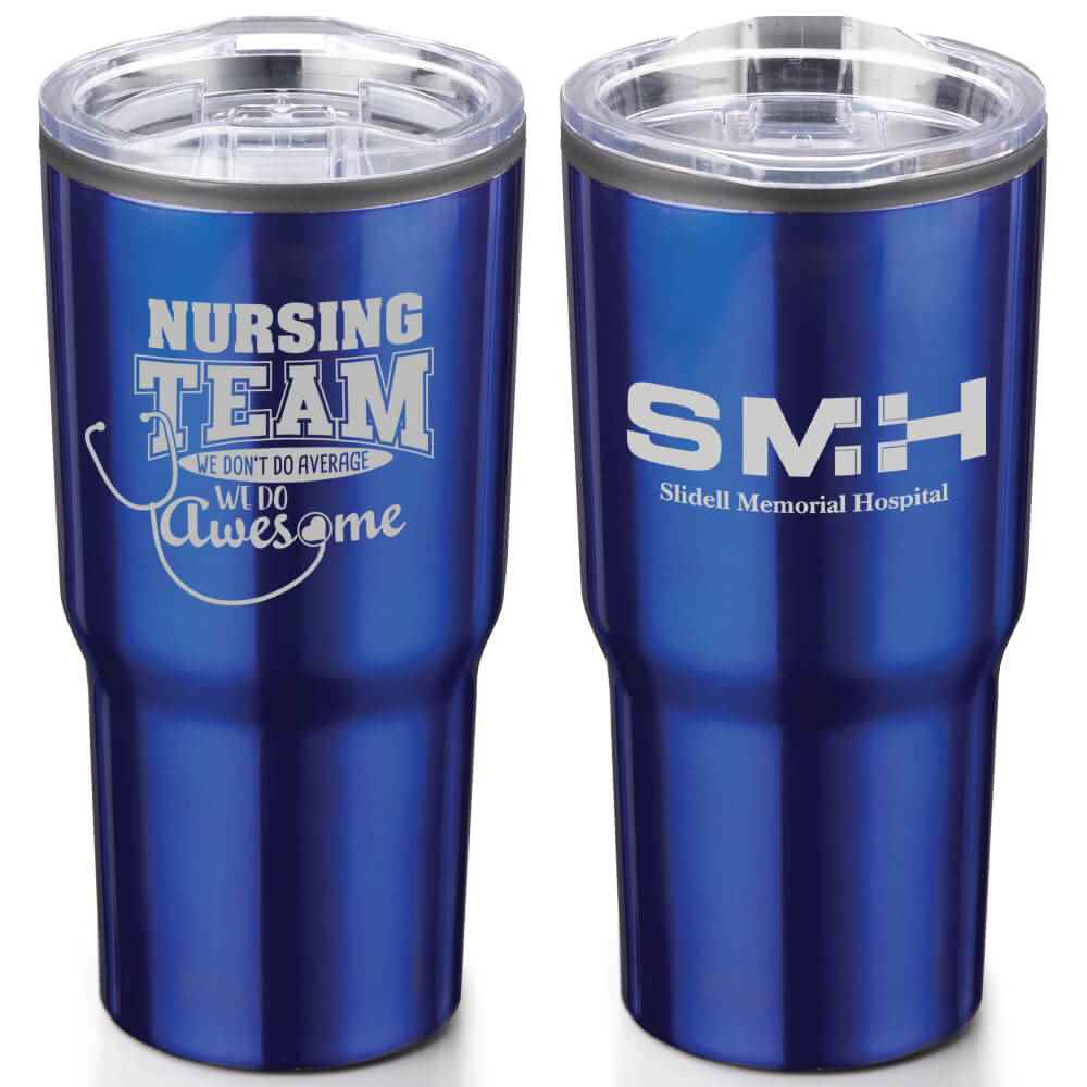 Nursing Team: We Don't Do Average, We Do Awesome Timber Insulated Stainless Steel Travel Tumbler 20-Oz. - Personalization Available