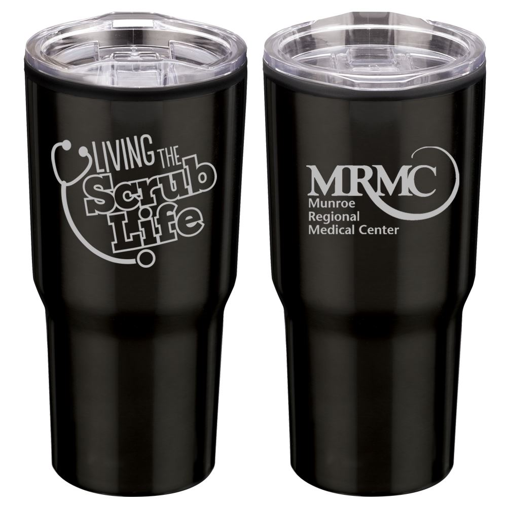 Living The Scrub Life Timber Insulated Stainless Steel Travel Tumbler 20-Oz. - Personalization Available