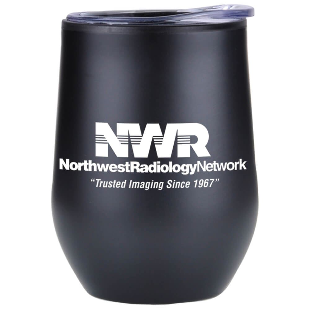 Black Riviera Stainless Steel Tumbler 12-Oz. - Personalization Available