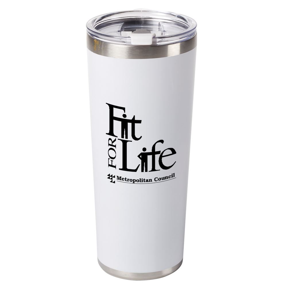 White Stockton Stainless Steel Vacuum Tumbler 20-Oz. - Personalization Available