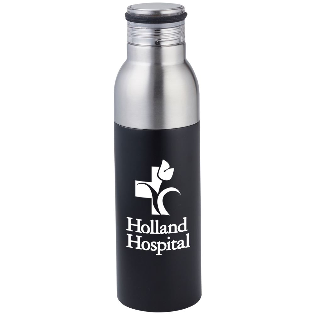 Double Take 2-In-1 Bottle-To-Tumbler (Black) - 1-Color Personalization Available