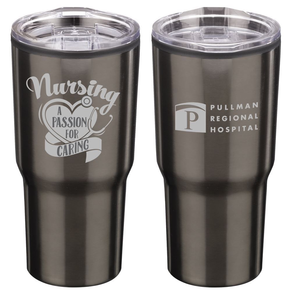 Nursing A Passion For Caring Timber Insulated Stainless Steel Travel Tumbler 20-Oz. - Personalization Available