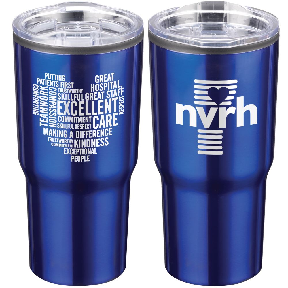 Heart Word Cloud Timber Insulated Stainless Steel Travel Tumbler 20-Oz. - Personalization Available