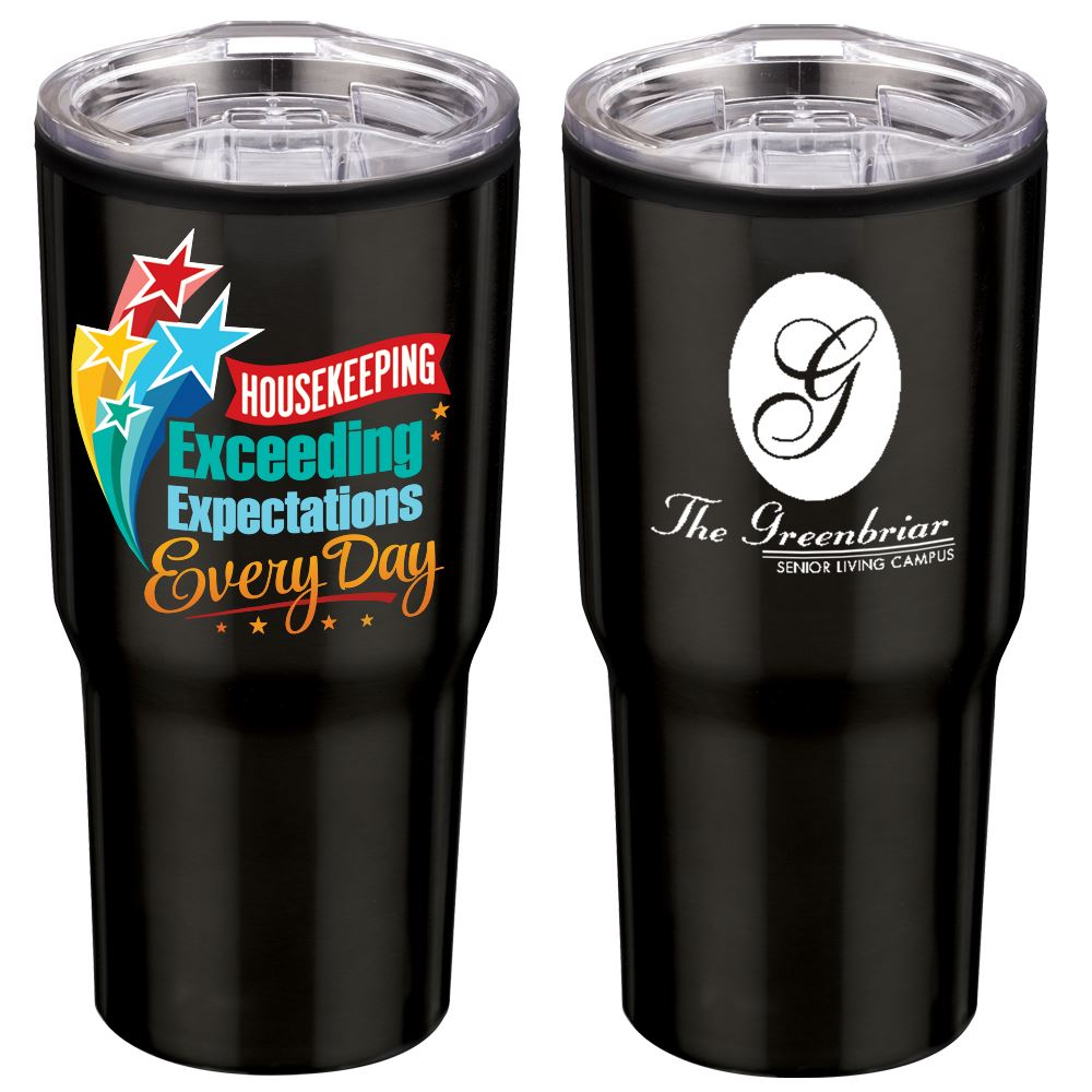 Housekeeping Exceeding Expectations Every Day Timber Insulated Stainless Steel Travel Tumbler 20 Oz. - Personalization Available